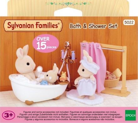 Sylvanian Families 5022 Bad & Douche Set   - Speelgoedwinkel.nl