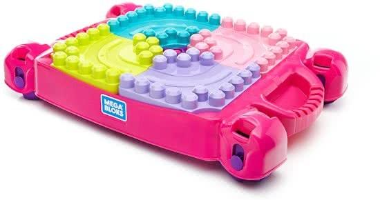 Mega Bloks Tafel : Mega bloks bouw en leer speeltafel roze incl pcs
