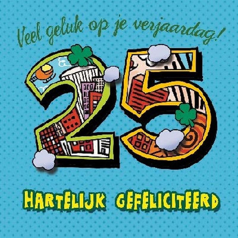Welp Verjaardagskaart 3D 25 jaar - Speelgoedwinkel.nl IO-14