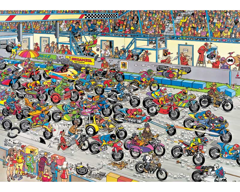 Jan van Haasteren: Motorrace (1000)